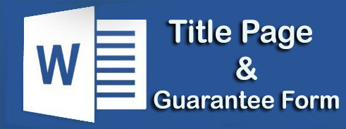 Title Page & Guarantee Form